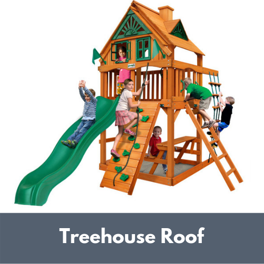 Gorilla Chateau Tower Playset with Treehouse Roof
