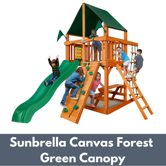 Gorilla Chateau Tower with Sunbrella Canvas Forest Green Canopy