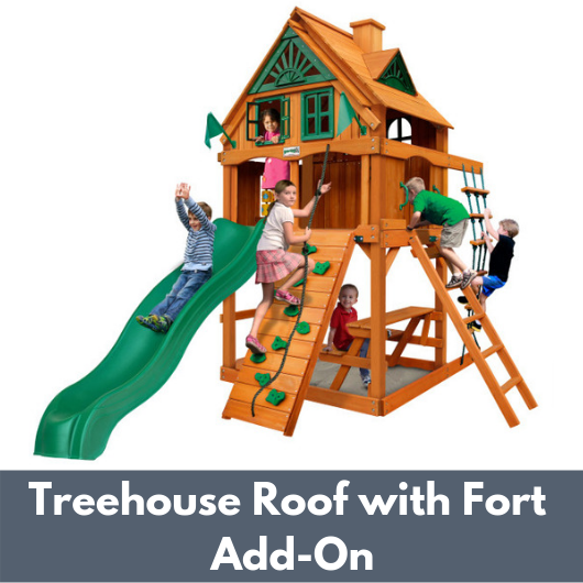Gorilla Chateau Tower with Treehouse Roof and Fort Add On