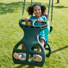Image of girl on Dual Ride Glider Swing by Gorilla Playsets