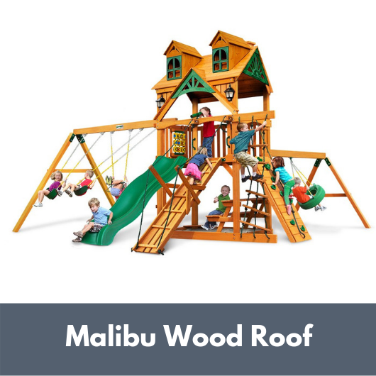 Gorilla Frontier Wooden Swing Set with Malibu Roof
