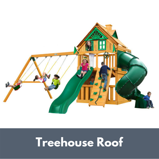 Gorilla Mountaineer Clubhouse Swing Set with Treehouse Roof