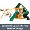 Image of Gorilla Mountaineer Clubhouse with Sunbrella Canvas Forest Green Canopy