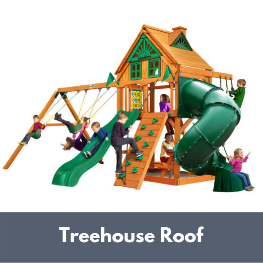Gorilla Mountaineer Swing Set with Treehouse Roof