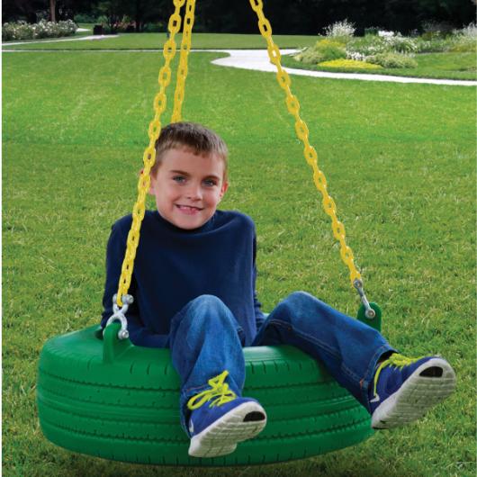 Boy on Gorilla Tire Swing