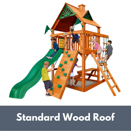 Gorilla Playsets Chateau Tower with Standard Wood Roof