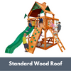 Image of Gorilla Playsets Chateau Tower with Standard Wood Roof