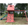 Image of Gorilla Sun Palace Wooden Swing Set outside