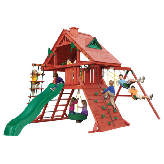 Gorilla Sun Palace Wooden Swing Set