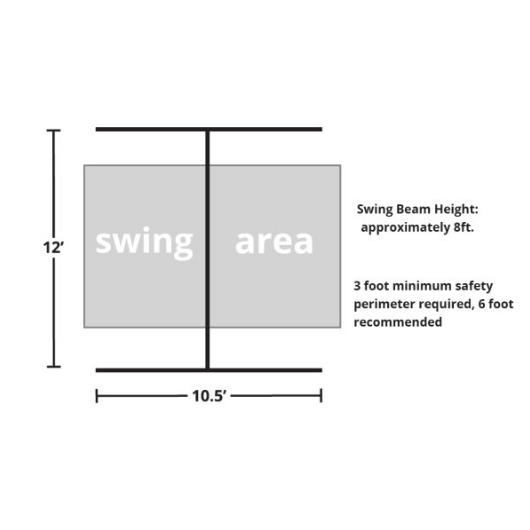 Gorilla Free Standing swing set dimensions