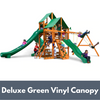 Image of Gorilla Playsets Great Skye II Wooden Swing Set with Deluxe Green Vinyl Canopy