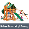 Image of Gorilla Playsets Great Skye I Wooden Swing Set with Deluxe Green Vinyl Canopy