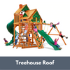 Image of Gorilla Playsets Great Skye I Wooden Swing Set with Treehouse Roof