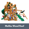 Image of Gorilla Playsets Great Skye I Wooden Swing Set with Malibu Wood Roof