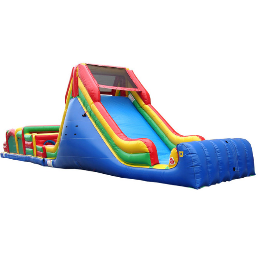 75'L Obstacle Course by Happy Jump 16' slide