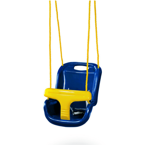 Gorilla High Back Infant Swing with Rope blue