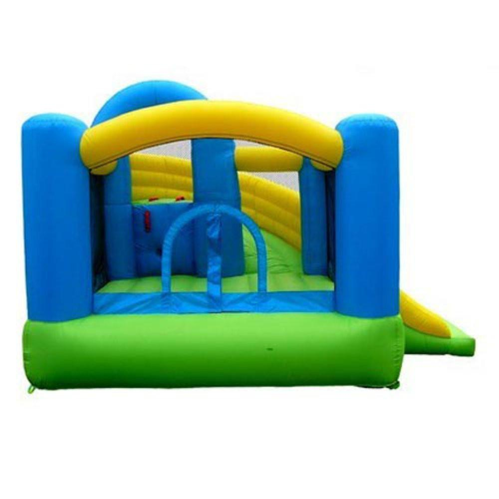 Residential Bounce House - Island Hopper Curved Double Slide Bounce House - The Bounce House Store