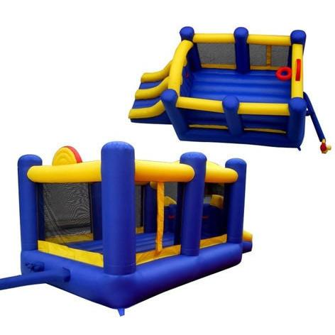 Residential Bounce House - Island Hopper Racing Slide and Slam Bounce House - The Bounce House Store
