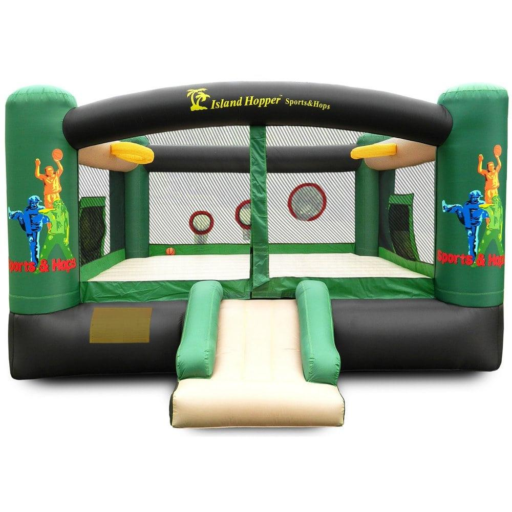 Residential Bounce House - Island Hopper Sports N Hops 5 Activity Jumper House - The Bounce House Store