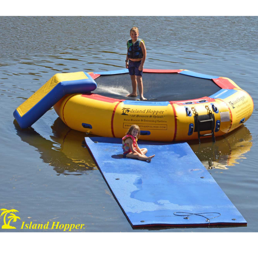 Island Hopper 13' Bounce-N-Splash Water Bouncer