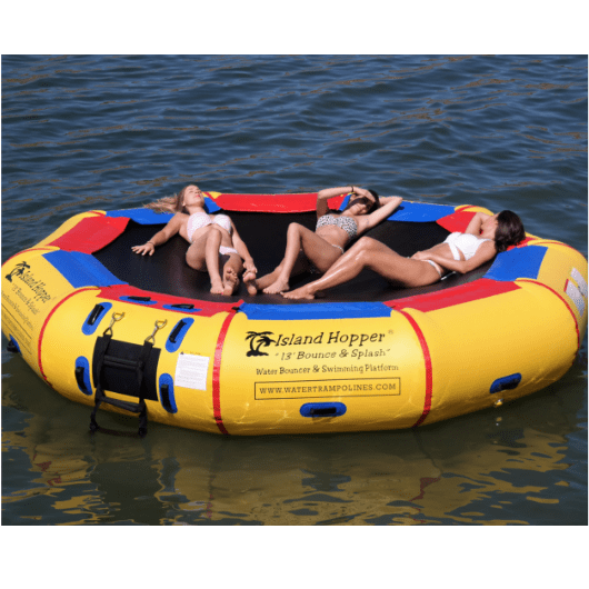 Island Hopper 13' Water Bouncer lounging