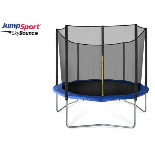 JumpSport 10' SkyBounce Round Trampoline with Safety Net Enclosure