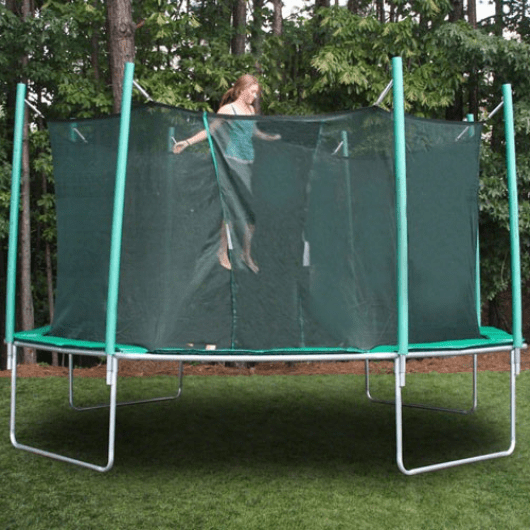 Jumping on Magic Circle 16' Octagon Trampoline