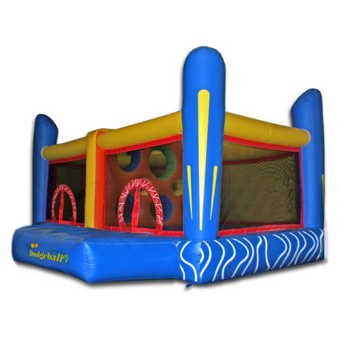 Commercial Bounce House - Kidwise Jump'n Dodgeball Commercial Bounce House - The Bounce House Store