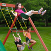 Image of Kids swinging on gorilla double down swing set
