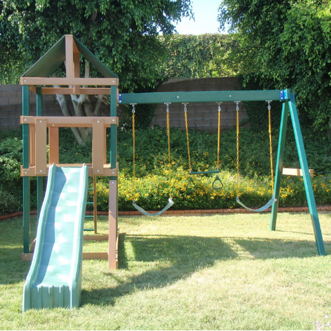 kidwise safari backyard swing set