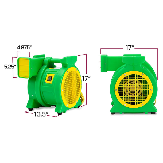 B-AIR Kodiak 1 HP Bounce House Blower, Green