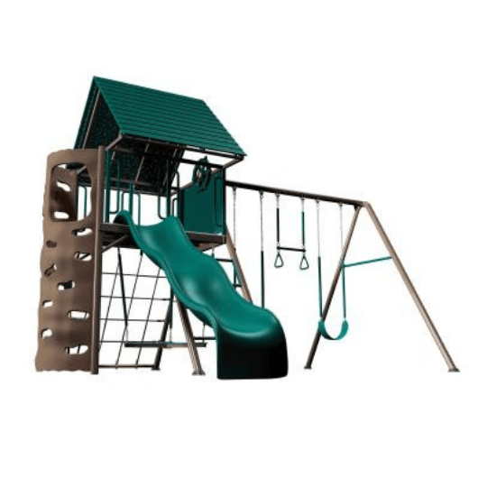 LIFETIME A-Frame Metal Playset main image - earthtones