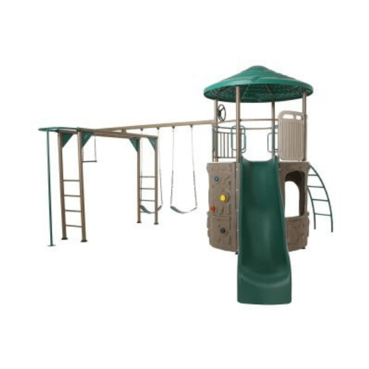 LIFETIME Adventure Tower Metal Swing Set with Monkey Bars