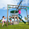 Image of LIFETIME Adventure Tower Metal Swing Set with Monkey Bars