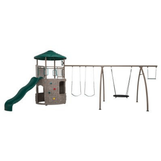 LIFETIME Adventure Tower with Spider Swing Metal Swing Set
