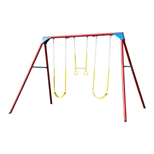 Lifetime 10ft Metal Swing Set in Primary colors