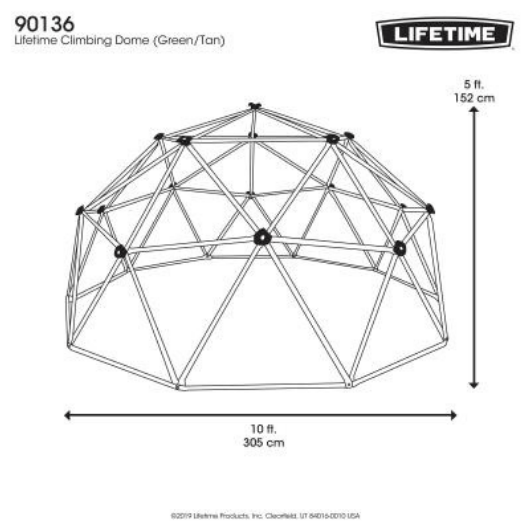 LIFETIME 10ft Climbing Dome