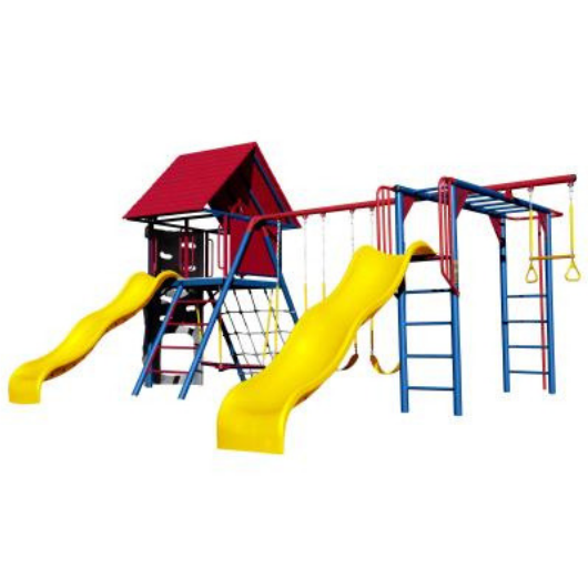Lifetime Double Slide Deluxe Playset - primary colors