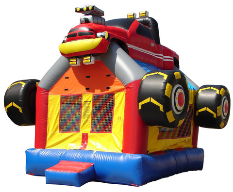 Commercial Bounce House - Happy Jump Monster Truck Commercial Bounce House - The Bounce House Store