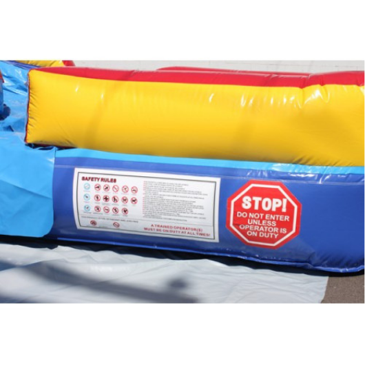 18'H Double Dip Inflatable Slide Wet n Dry (Red n Blue)