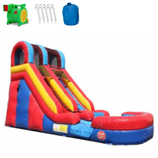 15'H Commercial Inflatable Slide Wet n Dry
