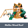 Image of Mountaineer Swing Set Clubhouse with Malibu Wood Roof