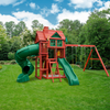Image of Gorilla Playsets Nantucket Deluxe Wood Swing Set