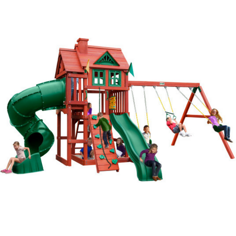 Gorilla Playsets Nantucket Deluxe Wooden Swing Set