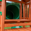 Image of Gorilla Playsets Nantucket Deluxe Wood Swing Set - Tube Slide