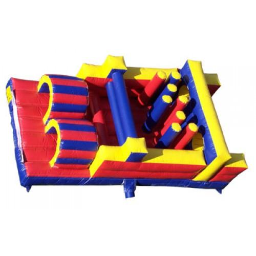 45'L x 12'H Wet n Dry Obstacle Course Red