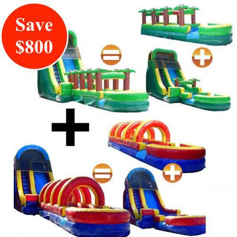 Inflatable Slide + Slip N Slide Bundle