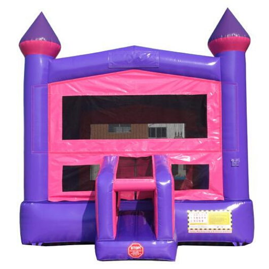 14' Pink Castle Commercial Bounce House
