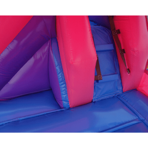 Pink Residential Combo Bounce House with Slide Wet n Dry