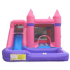 Image of Pink Residential Combo Bounce House with Slide Wet n Dry